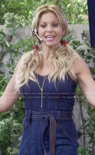 DJ's denim jumpsuit on Fuller House