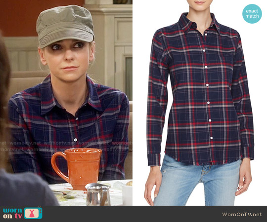 DL1961 Mercer & Spring Plaid Button-Down Shirt worn by Anna Faris on Mom