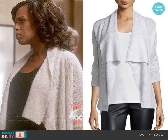 Donna Karan Cashmere-Silk Drape Front Cardigan worn by Olivia Pope (Kerry Washington) on Scandal