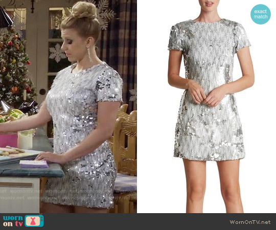 Dress the Population 'Ellen' Sequin Sheath Dress worn by Jodie Sweetin on Fuller House