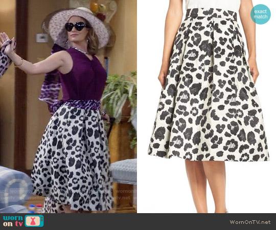 Eliza J Metallic Jacquard Midi Skirt worn by Kimmy Gibbler on Fuller House