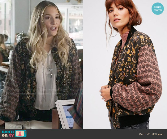 Free People Daytripper Printed Bomber worn by Maddie Jaymes on Nashville