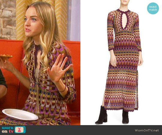 Free People Good Vibrations Maxi Dress worn by Olivia Rose Keegan on Days of our Lives