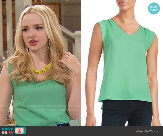 French Connection Knit V-neck Top worn by Liv Rooney (Dove Cameron) on Liv & Maddie