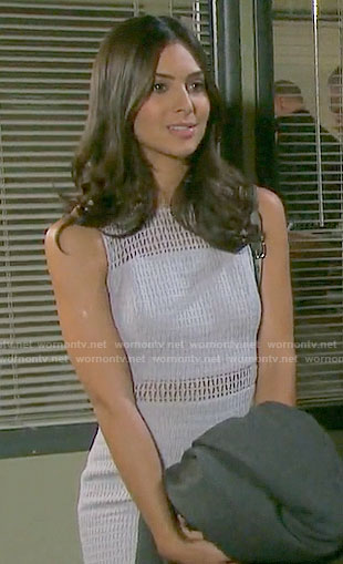 Gabi's grey lace dress on Days of our Lives