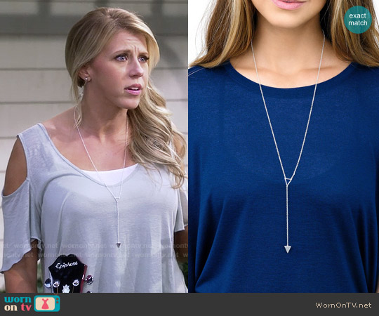 Gorjana Mika Lariat Necklace in Silver worn by Stephanie Tanner on Fuller House