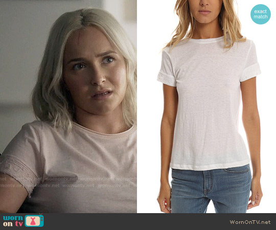 Helmut Lang Raw Sleeve Detail Tee worn by Hayden Panettiere on Nashville