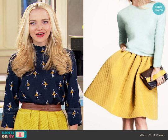 H&M Flared Skirt in Mustard worn by Liv Rooney on Liv & Maddie