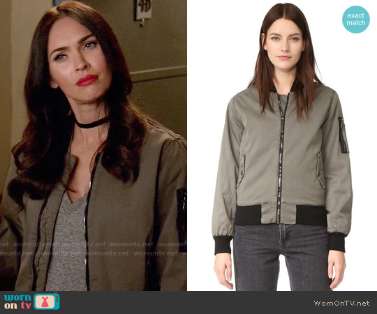 Hudson Gene Bomber Jacket worn by Megan Fox on New Girl