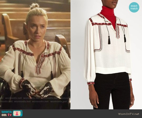 Isabel Marant Cabella Peasant Top worn by Hayden Panettiere on Nashville