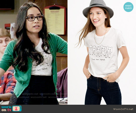J. Crew for David Sheldrick Wildlife Trust  Save More Elephants T-shirt worn by Isadora Smackle (Cecilia Balagot) on Girl Meets World