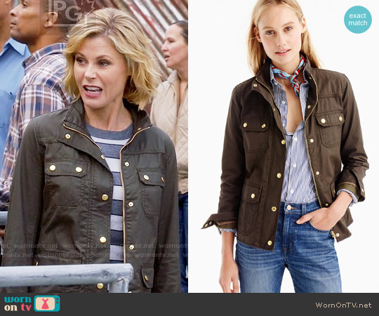J. Crew The Downtown Field Jacket in Mossy Brown worn by Julie Bowen on Modern Family