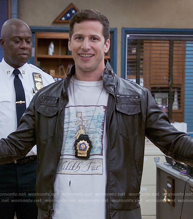 Jake's Lilith Fair T-shirt on Brooklyn Nine-Nine