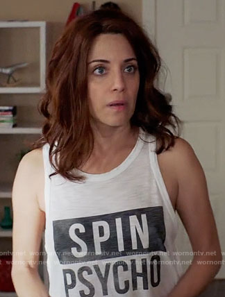Jo's Spin Psycho tank top on Girlfriends Guide to Divorce