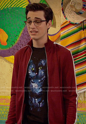 Joey's galaxy cat t-shirt on Liv and Maddie