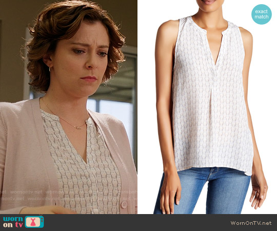 Joie Aruna Owl Print Top worn by Rachel Bloom on Crazy Ex-Girlfriend