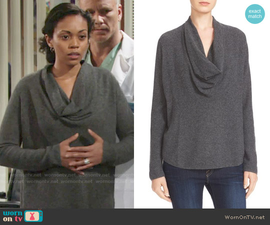Joie Mikkelin Sweater worn by Mishael Morgan on The Young & the Restless