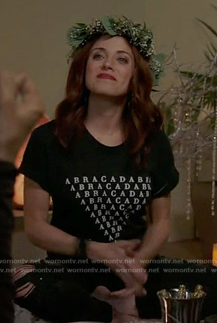 Jo's ABRACADABRA tee on Girlfriends Guide to Divorce