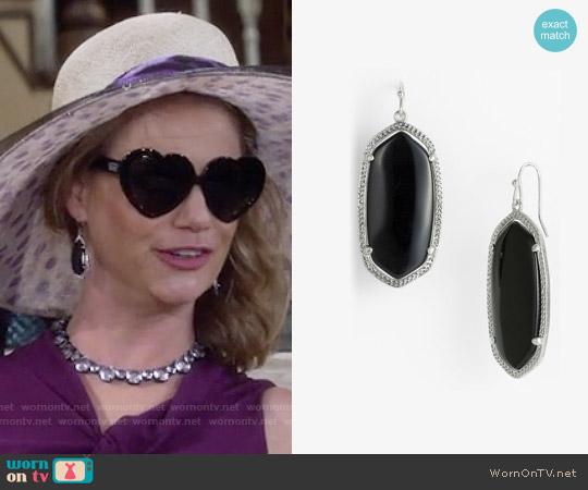 Kendra Scott 'Elle' Drop Earrings worn by Andrea Barber on Fuller House