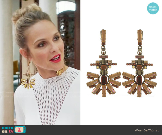 Miranda Konstantinidou Aztec Earrings worn by Phoebe Wells on GG2D