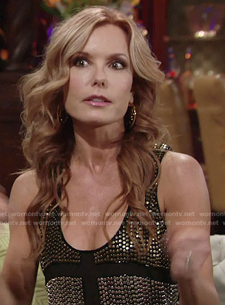 Lauren's black studded tank top on The Young and the Restless