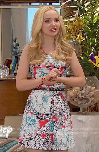 Liv's red floral dress on Liv and Maddie