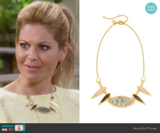 Madewell Petal Statement Necklace worn by DJ Tanner-Fuller (Candace Cameron Bure) on Fuller House