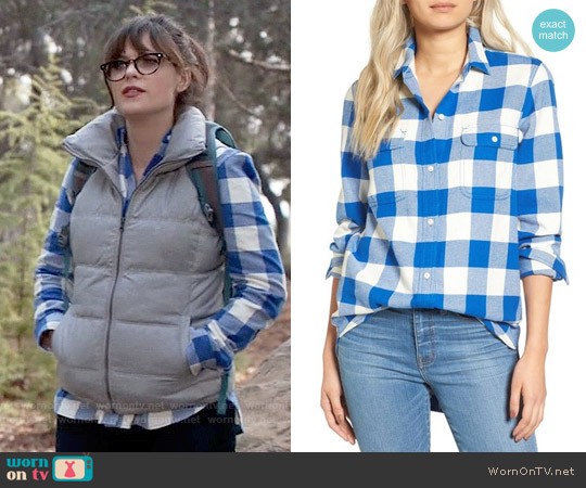 Madewell Ex Boyfriend Shirt worn by Zooey Deschanel on New Girl