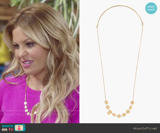 Madewell Holding Pattern Necklace worn by Candace Cameron Bure on Fuller House