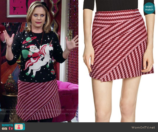 Maje Janeiro Tweed Skirt worn by Kimmy Gibbler on Fuller House