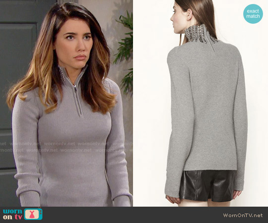 Maje Matias Sweater worn by Steffy Forrester (Jacqueline MacInnes Wood) on The Bold & the Beautiful