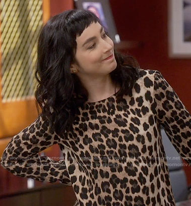 Mandy's leopard print top on Last Man Standing