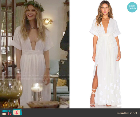 Mara Hoffman Embroidered Slit Maxi Dress worn by Phoebe Wells (Beau Garrett) on GG2D