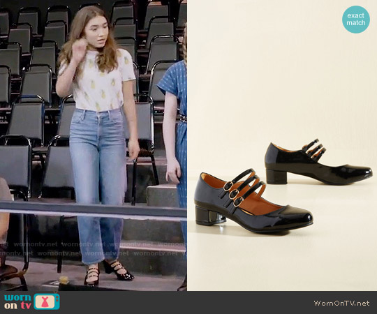 ModCloth All Tapped Out Mary Jane Heel in Black worn by Riley Matthews on Girl Meets World