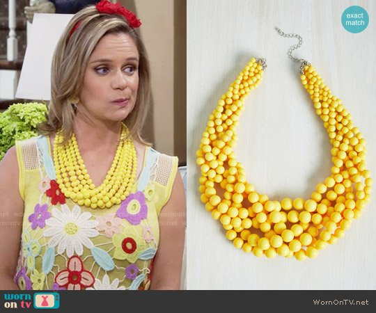 ModCloth Braid to Love You Necklace in Sunflower worn by Kimmy Gibbler on Fuller House