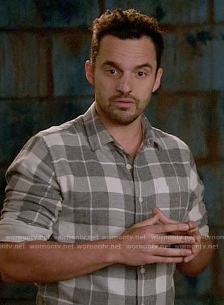 Nick's grey plaid shirt on New Girl