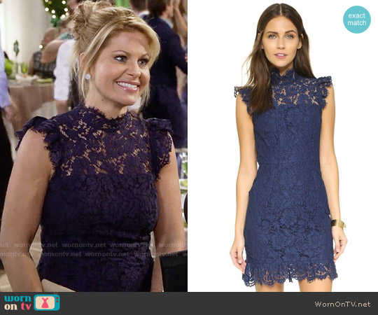 ONE by aijek Into the Night Dress worn by Candace Cameron Bure on Fuller House