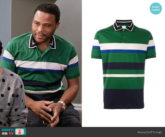 Paul Smith Contrasting Collar Polo Shirt worn by Anthony Anderson on Blackish