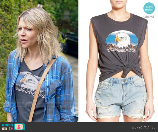 Project Social Eagle Graphic Muscle Tee worn by Mackenzie Murphy (Kaitlin Olson) on The Mick