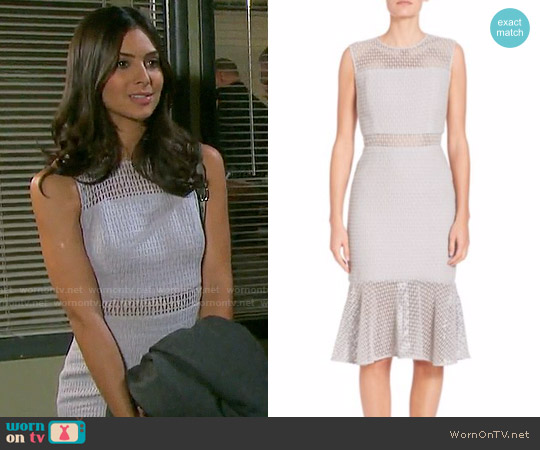 Prose & Poetry Zoe Cotton Ruffle Hem Dress worn by Gabi Hernandez (Camila Banus) on Days of our Lives