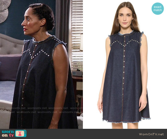 Rachel Comey Short Chronicle Dress worn by Rainbow Johnson (Tracee Ellis Ross) on Blackish