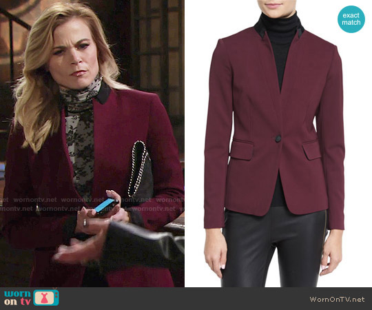 Rag & Bone Archer Blazer worn by Phyllis Newman on The Young & the Restless