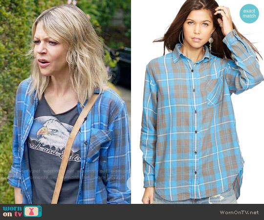 Denim & supply Ralph Lauren Button-down Flannel Shirt worn by Mackenzie Murphy on The Mick