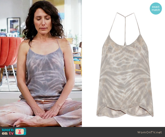 Raquel Allegra Tie Dyed Silk Tank worn by Lisa Edelstein on GG2D