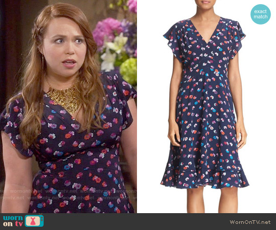Rebecca Taylor Sakura Dress worn by Amanda Fuller on Last Man Standing