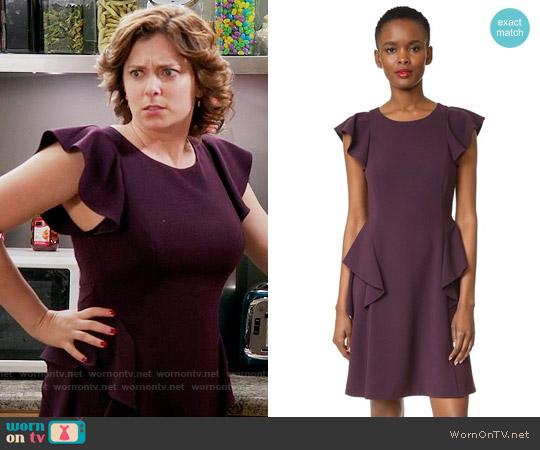 Rebecca Taylor Short Sleeve Ruffle Dress worn by Rebecca Bunch (Rachel Bloom) on Crazy Ex-Girlfriend