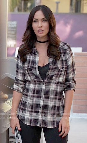 Reagan's plaid shirt on New Girl