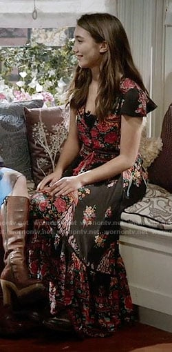 Riley's black floral maxi dress on Girl Meets World