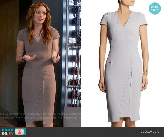 Roland Mouret Adalia Dress worn by Danielle Panabaker on The Flash