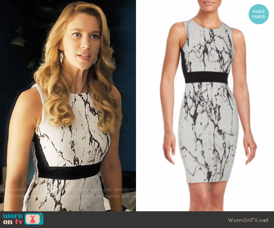 Saks Fifth Avenue RED Printed Sleeveless Sheath Dress worn by Petra Solano (Yael Grobglas) on Jane the Virgin